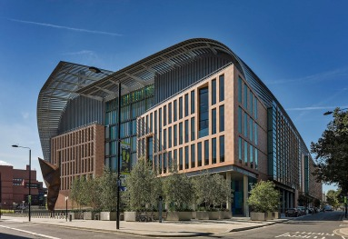 Francis Crick Institute at Midland Road, St Pancras, London designed by architects HOK with PLP Architecture.