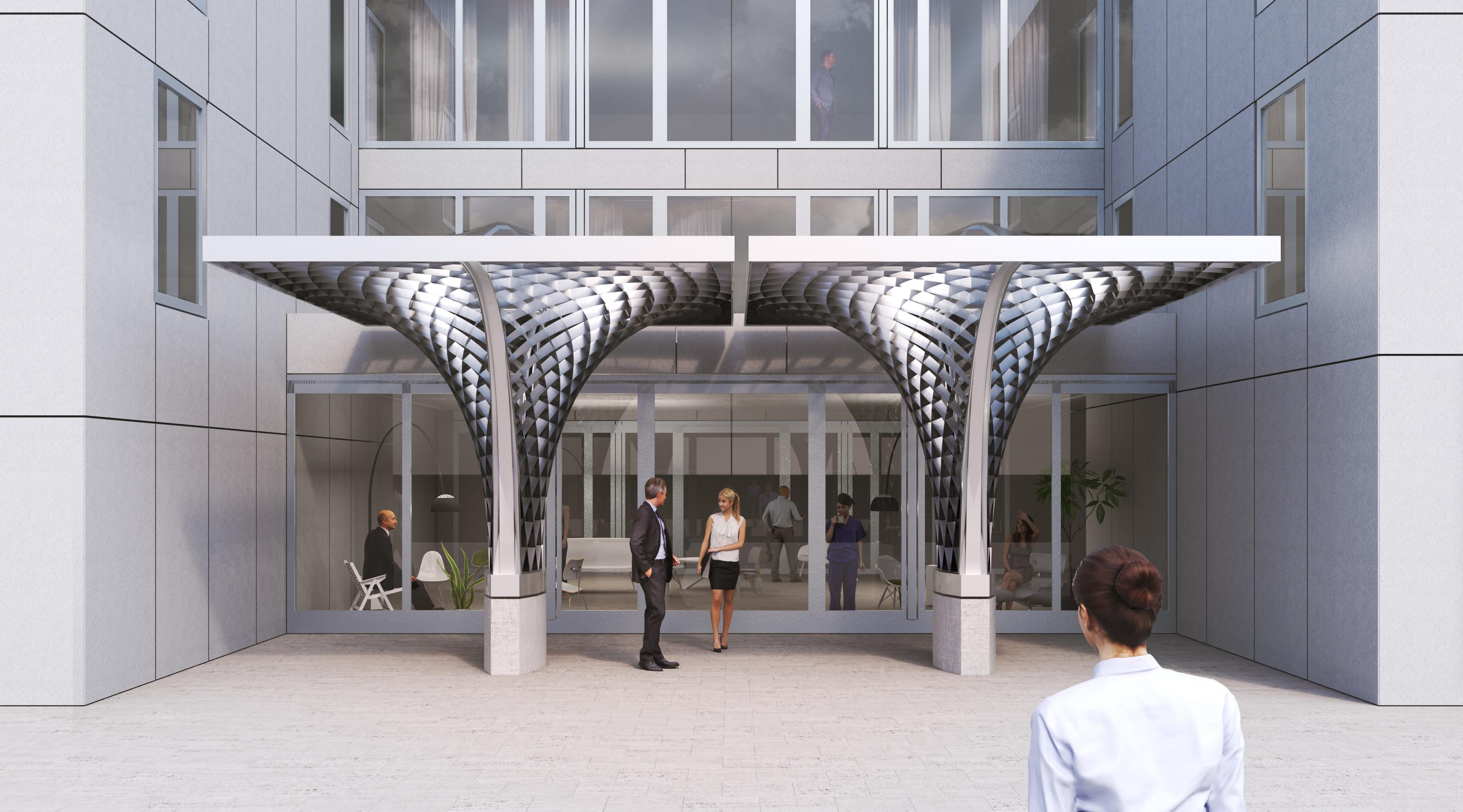 Canopy For The Hotel Intergroup In Ingolstadt Eike Schling